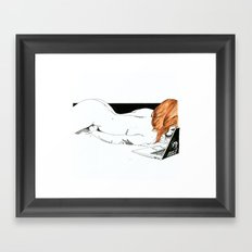 NUDEGRAFIA - 32 Don't Panic Framed Art Print
