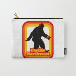 Retro Sasquatch Pacific Northwest Carry-All Pouch