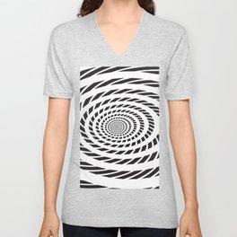 BLACK LICORICE TWIST SWIRL Abstract Art Unisex V-Neck