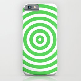 Circles (Green & White Pattern) iPhone Case