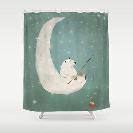 catch a falling star Shower Curtain