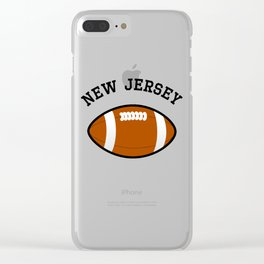 New Jersey American Football Design black lettering Clear iPhone Case