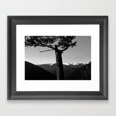 hurricane ridge . ii Framed Art Print