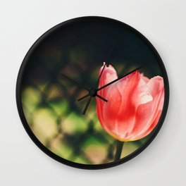 Tilting or leaning Wall Clock