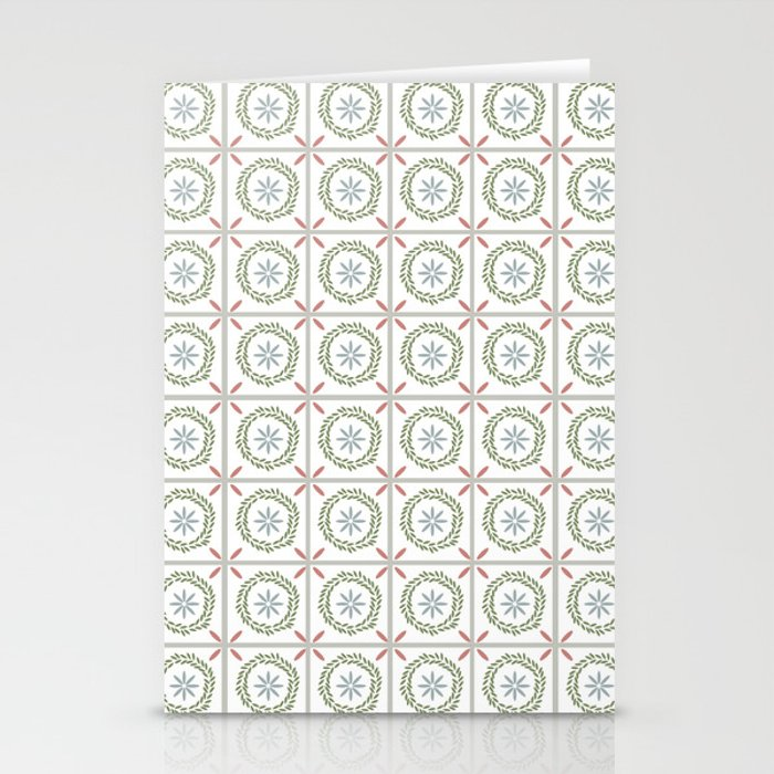 Farmhouse Floral Tile Stationery Cards
