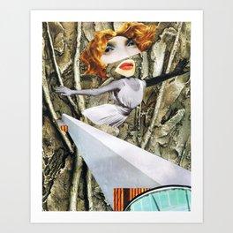 bird - collage Art Print