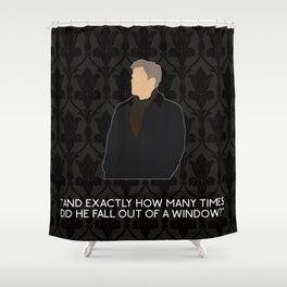 A Scandal in Belgravia - Greg Lestrade Shower Curtain