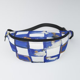 Blue and White Checks Fanny Pack