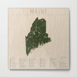 Maine Parks Metal Print