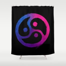 BDSM Triskelion Bisexual Pride Shower Curtain