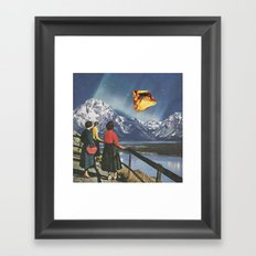 Citrine Sky Framed Art Print