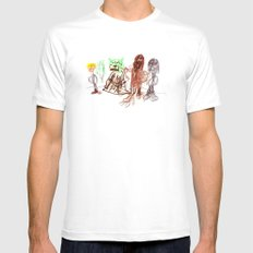 Space Opera in Crayon Mens Fitted Tee MEDIUM White