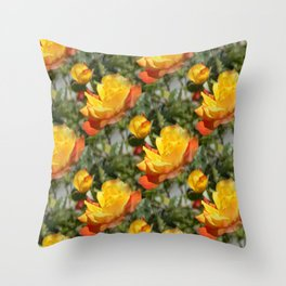 Bloomin' Gold roses... Throw Pillow