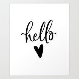 HELLO LOVE by DearLilyMae Art Print