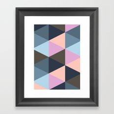 Triangle Meltdown Framed Art Print