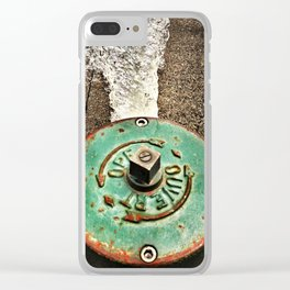 Running Fire Hydrant Clear iPhone Case