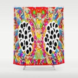 Kaleidofan Shower Curtain