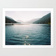 Crescent Lake  Art Print