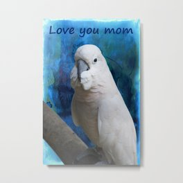 Mother's day  parrot on its perch Metal Print