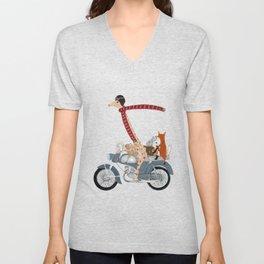 little biker buddies Unisex V-Neck