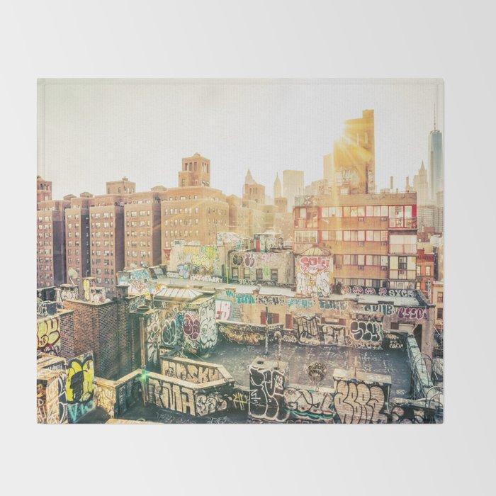 New York City Graffiti Throw Blanket
