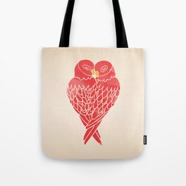 Love Birds (Red) Tote Bag