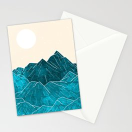 Mountains under the white sun Stationery Cards
