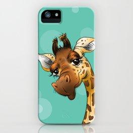Teal Giraffe! iPhone Case