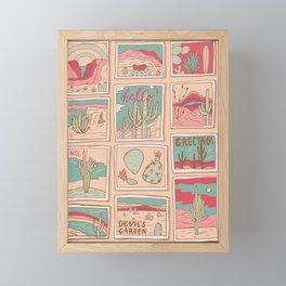 Retro Desert Postcards Framed Mini Art Print