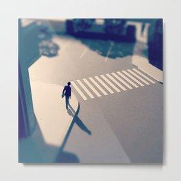 Crosswalk Mini Metal Print