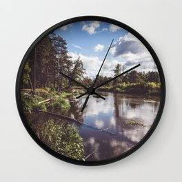 Liwiec River - Landscape and Nature Photography Wall Clock