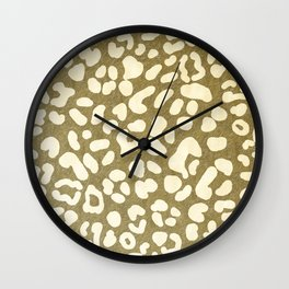 Leopard Beige Pattern Wall Clock