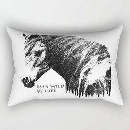 RUN WILD BE FREE Rectangular Pillow
