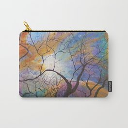 Space Tree Galaxy Painting Orion's Nebula Original Art (Dust in the Wind) Carry-All Pouch