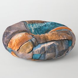 Colored Stone Wall Floor Pillow