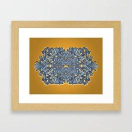 PILOT Blue & Gold Framed Art Print