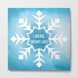 Liberal Snowflake Metal Print
