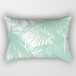 Subtle palm leaves Rectangular Pillow