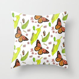 Monarch Migration Throw Pillow