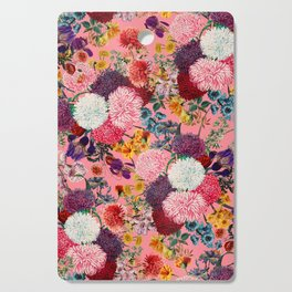 Floral Pink Pattern Cutting Board