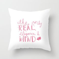 elegance is in the mind (pink) Throw Pillow