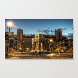 FSU Heritage Fountain - Night Life Canvas Print