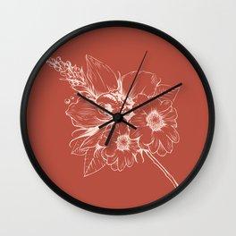 Orchid III Wall Clock