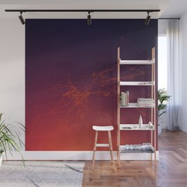 Sunset gradient connection Wall Mural