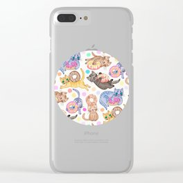 Sprinkles on Donuts and Whiskers on Kittens Clear iPhone Case