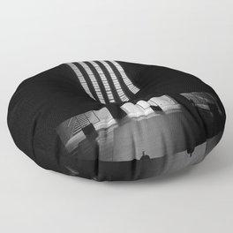 black white photo Floor Pillow