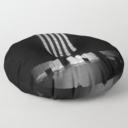 black white photo Floor Pillow