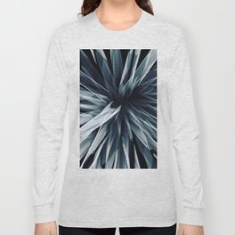 Perspective Facets-Retro Blue Long Sleeve T-shirt