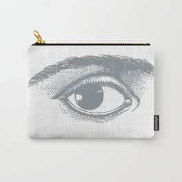 I see you. Gray on White Carry-All Pouch