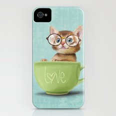 Kitten with glasses Slim Case iPhone (4, 4s)
